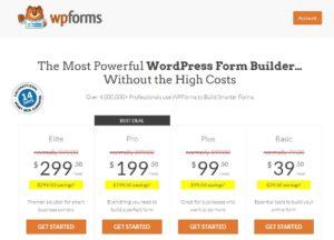 wpforms price